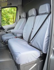 Tailored Front Row Seat Covers in Grey w/Armrests (1+2)