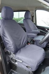 Tailored Front Row w/ Armrest Seat Covers in Grey (1+1)