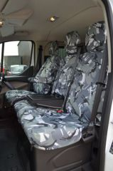 Tailored Front Row Armrest Seat Covers Grey Camo (1+2)