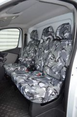 Tailored Front Row Fold Pass Seat Covers Grey Camo (1+2)