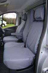Tailored Front Row Fold Pass. Seat Covers in Grey (1+2)