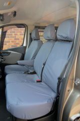 Tailored Front Row Seat Covers in Grey (1+2)