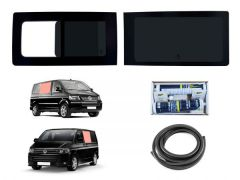 Left Opening Right Fixed Dark Tint Windows & Fitting Kit
