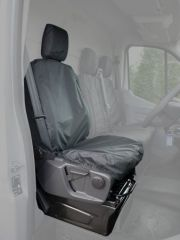 Tailored Drivers Seat Cover w/ Armrest in Black