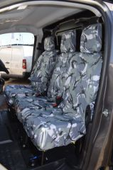Tailored Front Seat Covers in Grey Camo w/Armrests (1+2)