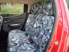 Tailored Triple Bench Seat Covers in Grey Camo w/Armrest