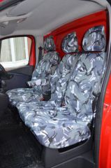 Tailored Front Seat Covers in Grey Camo (1+1)
