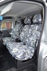 Tailored Grey Camo Seat Covers (Front & Rear Bundle)