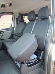 Tailored 9 Seater Seat Covers in Black (Sportive)