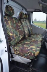 Tailored Front Row Seat Covers in Green Camo (1+2)