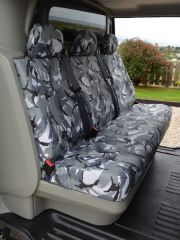 Tailored Rear Crew Cab Bench Seat Cover in Grey Camo