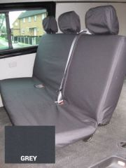Tailored Triple Rear Bench Seat Covers in Grey