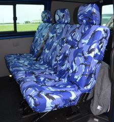 Tailored Rear Bench Seat Covers in Blue Camo