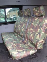 Tailored Rear Bench Seat Cover in Green Camo