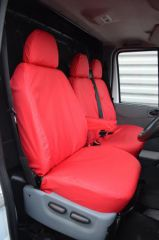 Tailored Front Row Seat Covers in Red (1+2)