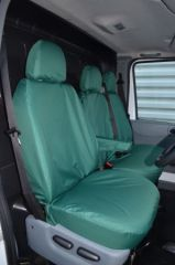 Tailored Front Row Seat Covers in Green (1+2)
