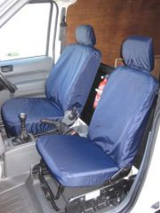 Tailored Front Seat Covers w/Armrest in Navy Blue (1+1)