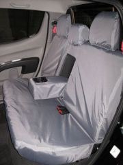 Tailored Triple Rear Seat Covers in Grey w/Armrests