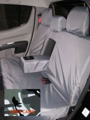 Tailored Triple Rear Bench Seat Cover in Grey Camo