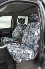 Tailored Front Row Seat Covers in Grey Camo (1+1)