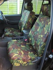 Tailored Front Row Seat Covers in Green Camo (1+1)