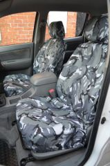 Tailored Grey Camo Front Seat Covers (1+1)