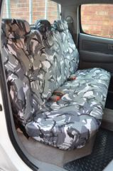 Tailored Rear Seat Covers in Grey Camo (1+2).