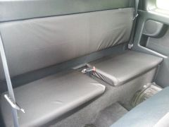 Tailored Extra Rear Seat Covers in Black