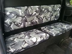 Tailored Rear Extra Cab Seat Covers in Grey Camo