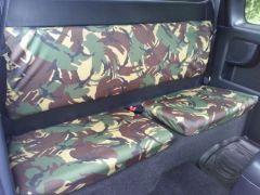 Tailored Extra Rear Seat Covers in Green Camo