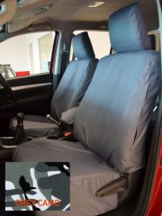 Tailored Front Seat Covers in Grey Camo w/Armrest (1+1)