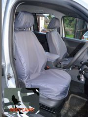 Tailored Front Seat Covers w/Armrests in Grey Camo (1+1)