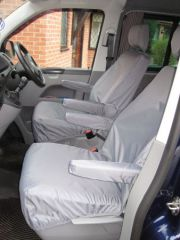 Tailored Front Seat Covers in Grey (1+1)