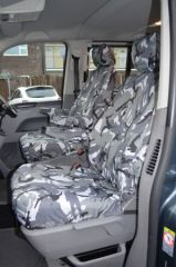 Tailored Front Seat Covers in Grey Camo w/Armrests (1+1)