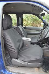 Tailored Black Seat Covers Front & Rear w/Armrest Bundle