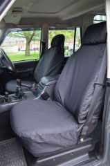 Tailored Black Seat Covers Front & Mid w/Armrests Bundle