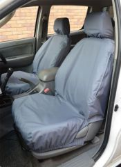 Tailored Front Seat Covers in Grey (Front & Rear Bundle)