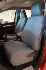 Tailored Front Row Seat Covers in Grey w/Armrests Bundle