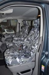 Tailored 8 Seater Seat Covers in Grey Camo (Shuttle)