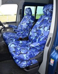 Tailored 8 Seater Seat Covers in Blue Camo (Shuttle)