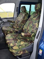 Tailored 8 Seater Seat Covers in Green Camo (Shuttle)