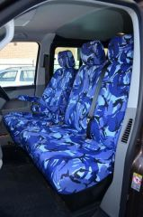 Tailored 9 Seater Seat Covers in Blue Camo (Shuttle)