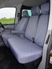 Tailored Grey Seat Covers (Front, Mid & Rear Bundle)
