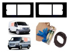 Twin Opening Clear Windows & Fitting Kit