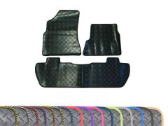 Heavy-Duty 3mm Rubber Floor Mats with Colour Trim (3pc)