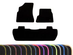 Tailored Carpet Floor Mats with Colour Edge Trim (3pc)