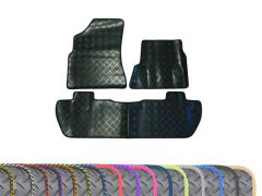 Super-Duty 5mm Rubber Floor Mats with Colour Trim (3pc)
