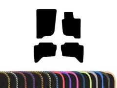 Tailored Carpet Floor Mats with Colour Edge Trim (4pc)