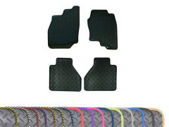 Heavy-Duty 3mm Rubber Floor Mats with Colour Trim (4pc)