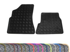 Heavy-Duty 3mm Rubber Floor Mats with Colour Trim (2pc)